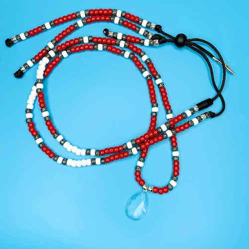 Team Red Rhythm Necklace