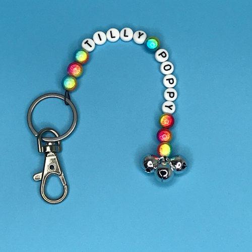 Iridescent Bead Key Ring