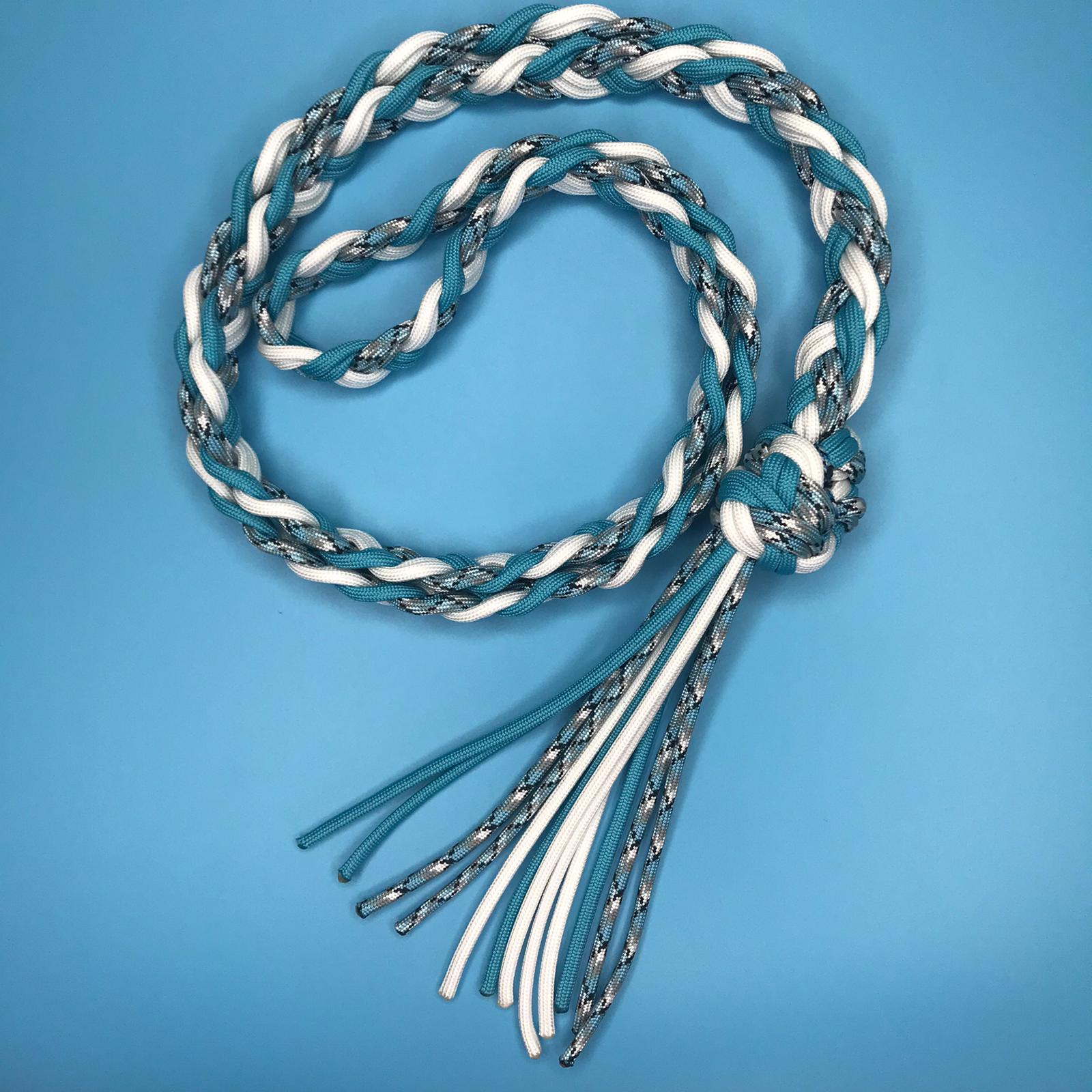 Pale Blue & White Neck Strap