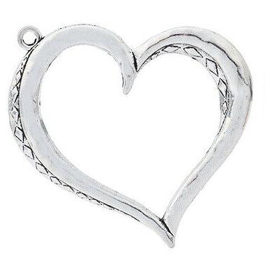 Large Open Heart Pendant