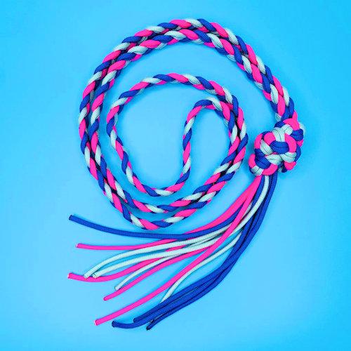 Pink, Blue & Silver Neck Strap